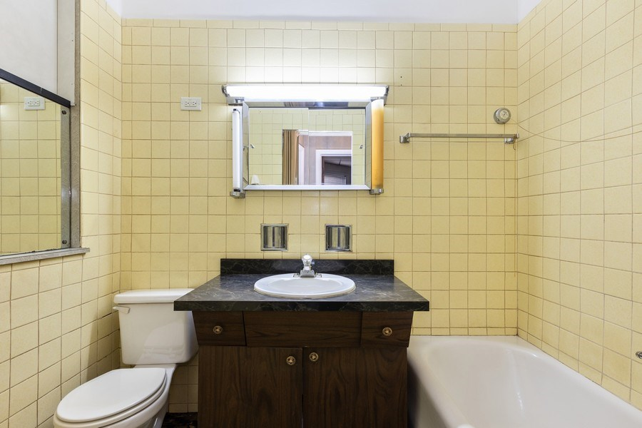 Real Estate Photography - 5143 North West Diversey Ave, Chicago, IL, 60639 - Bathroom