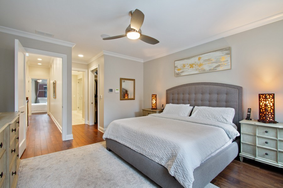 Real Estate Photography - 1834 S. CALUMET Avenue, Unit 3, Chicago, IL, 60616 - Master Bedroom