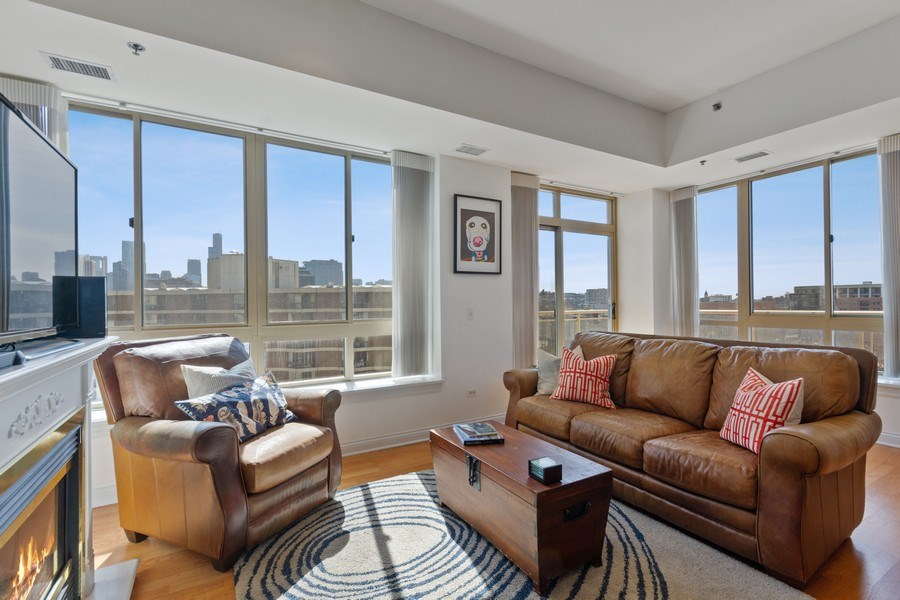 Real Estate Photography - 230 W. Division Street, Unit 801, Chicago, IL, 60610 - Living Room