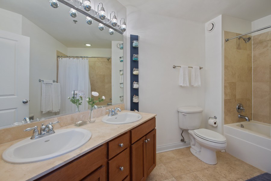 Real Estate Photography - 230 W. Division Street, Unit 801, Chicago, IL, 60610 - Master Bathroom