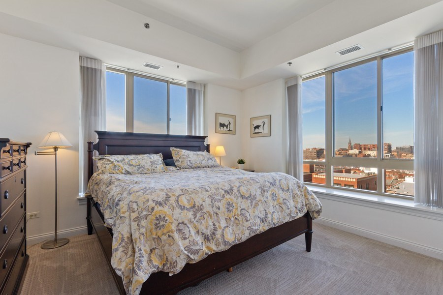 Real Estate Photography - 230 W. Division Street, Unit 801, Chicago, IL, 60610 - Master Bedroom