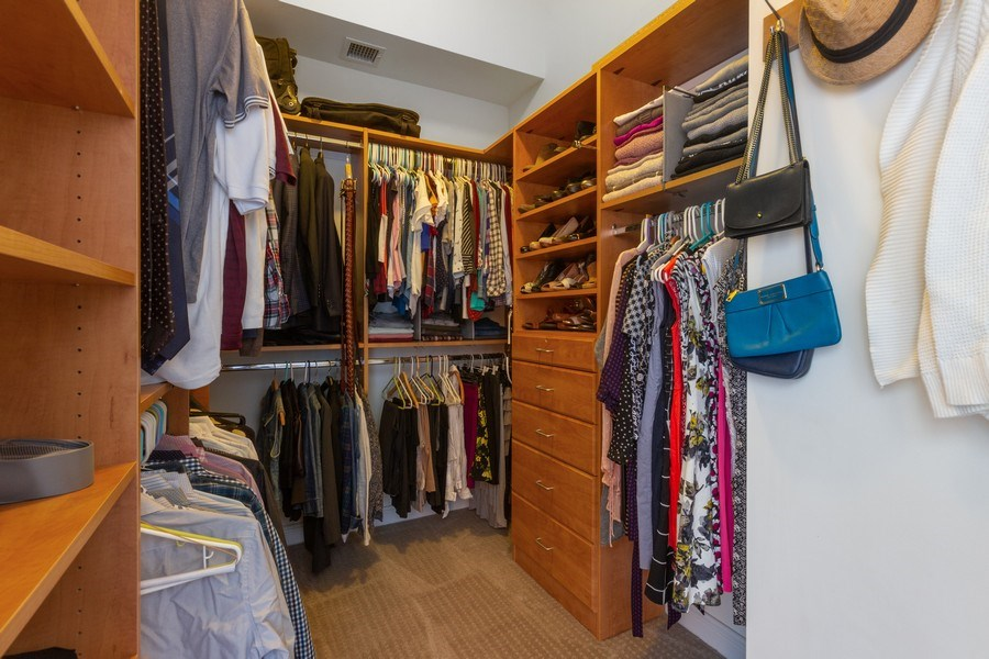 Real Estate Photography - 230 W. Division Street, Unit 801, Chicago, IL, 60610 - Master Bedroom Closet