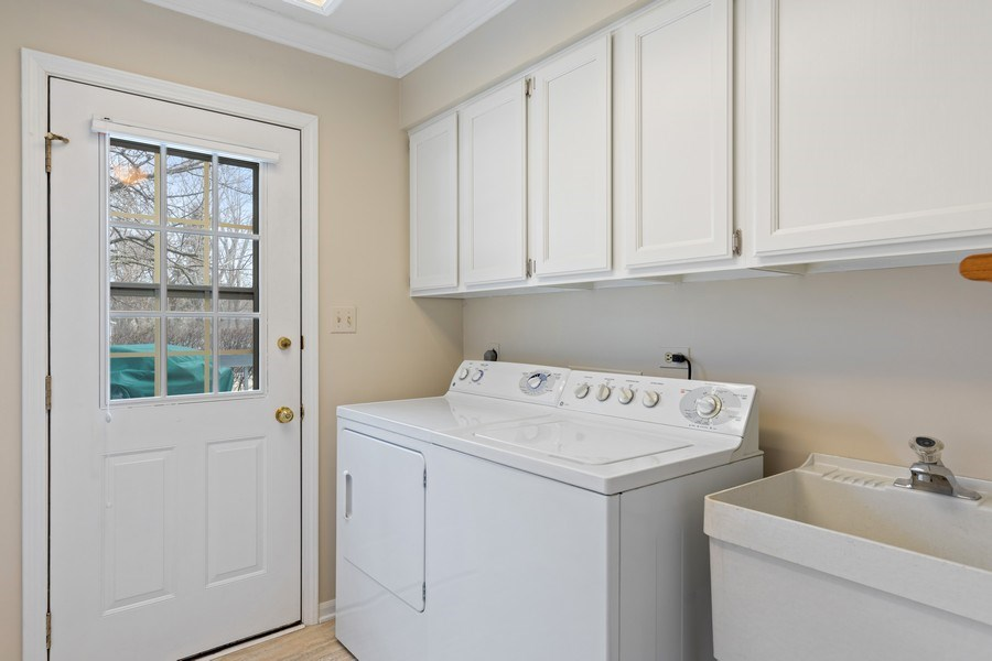 Real Estate Photography - 20581 N. Laurel Drive, Deer Park, IL, 60010 - Laundry Room