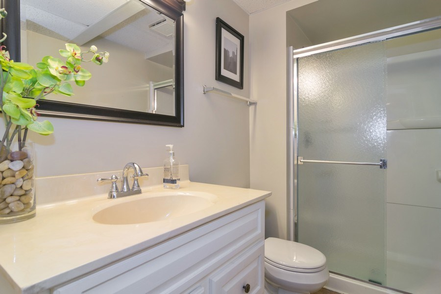 Real Estate Photography - 231 Gingerbrook Lane, Bartlett, IL, 60103 - 2nd Bathroom