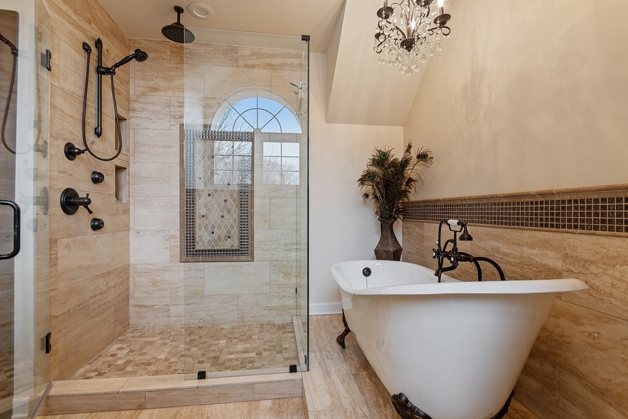 Real Estate Photography - 1528 N Loomis St, Naperville, IL, 60563 - Master Bathroom