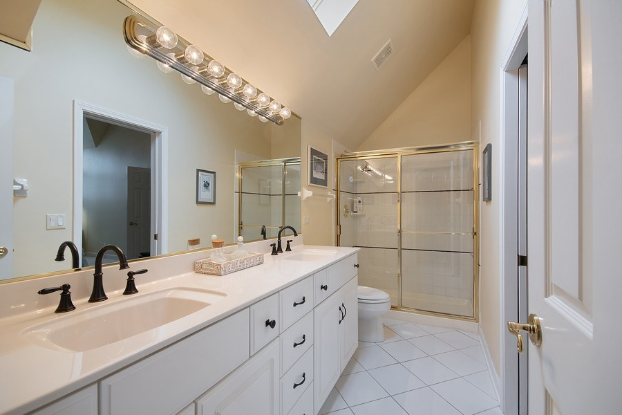 Real Estate Photography - 1528 N Loomis St, Naperville, IL, 60563 - 2nd Bathroom
