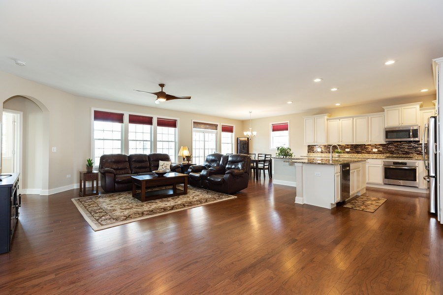 Real Estate Photography - 2623 Foxglove Street, Naperville, IL, 60564 - Family Room