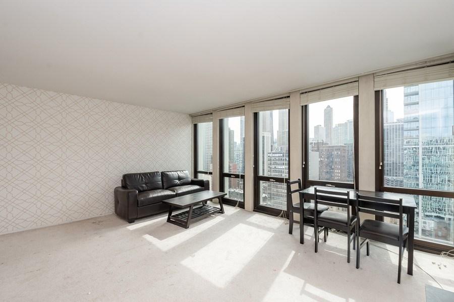 Real Estate Photography - 1 E. SCOTT, Unit 2005, Chicago, IL, 60610 - Living Room