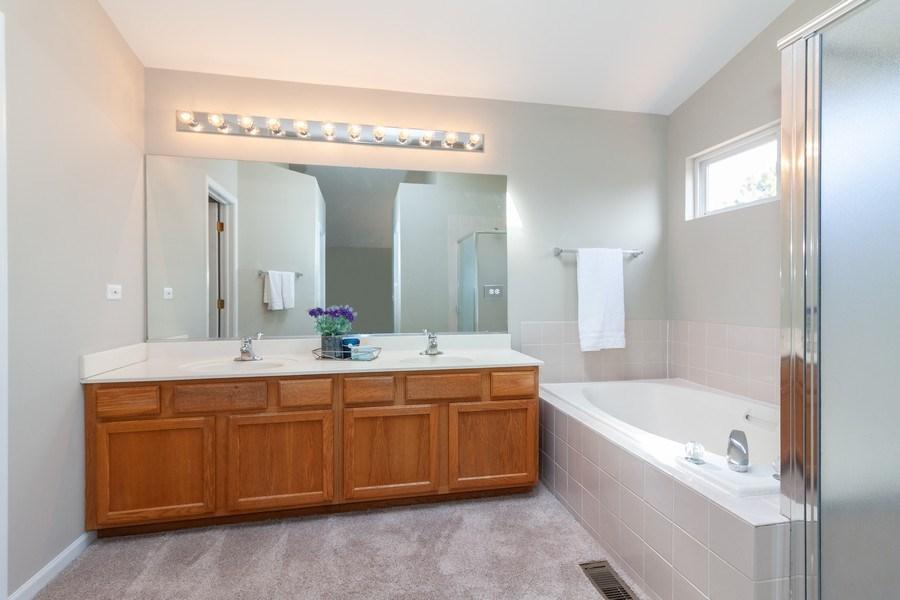 Real Estate Photography - 146 Cider Street, Bolingbrook, IL, 60490 - Master Bathroom