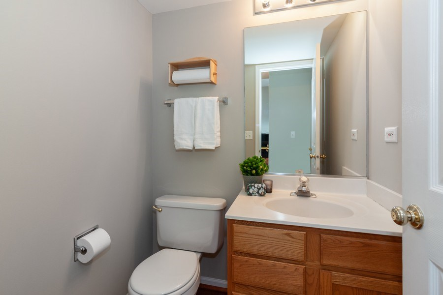 Real Estate Photography - 146 Cider Street, Bolingbrook, IL, 60490 - Powder Room