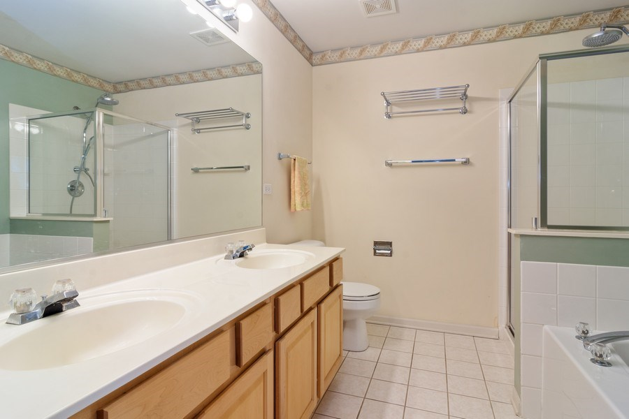 Real Estate Photography - 2631 N. Greenwood Avenue, Arlington Heights, IL, 60004 - Master Bathroom