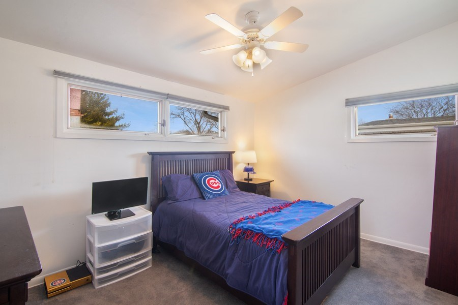 Real Estate Photography - 2936 Harrison Street, Glenview, IL, 60025 - 2nd Bedroom
