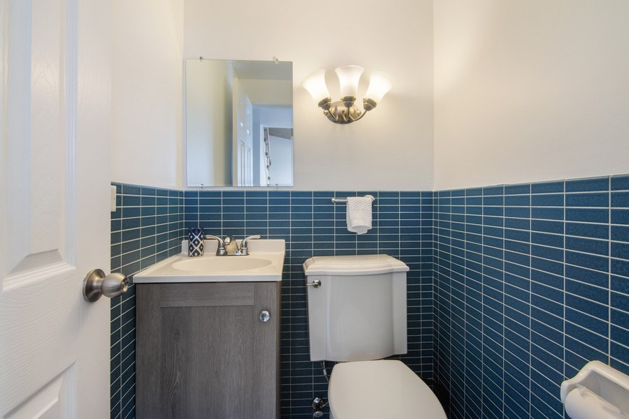 Real Estate Photography - 2936 Harrison Street, Glenview, IL, 60025 - Half Bath