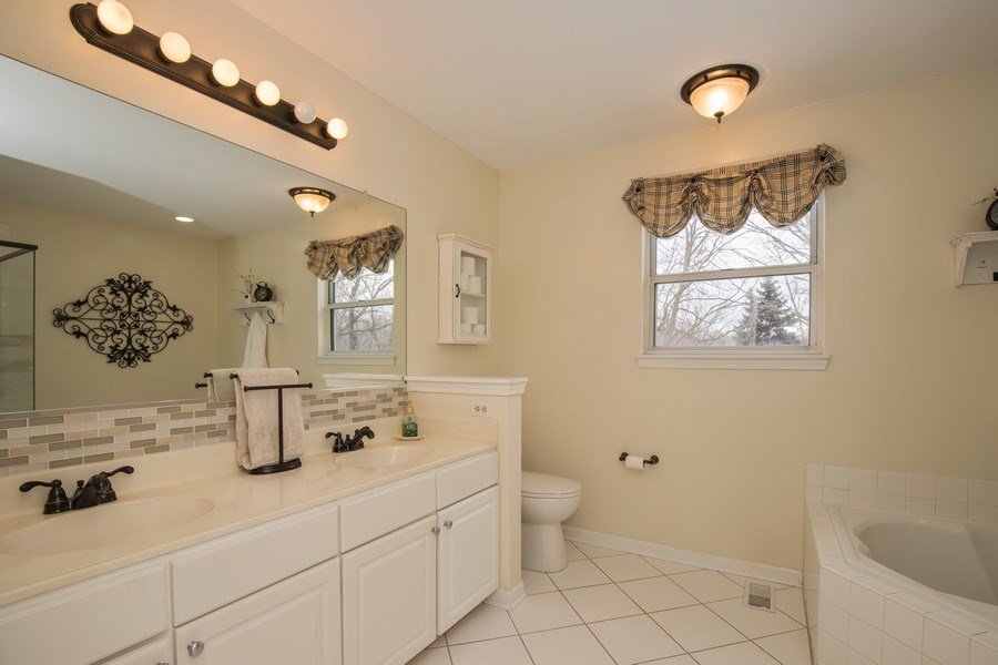 Real Estate Photography - 566 Meadowview Drive, Wauconda, IL, 60084 - Master Bathroom