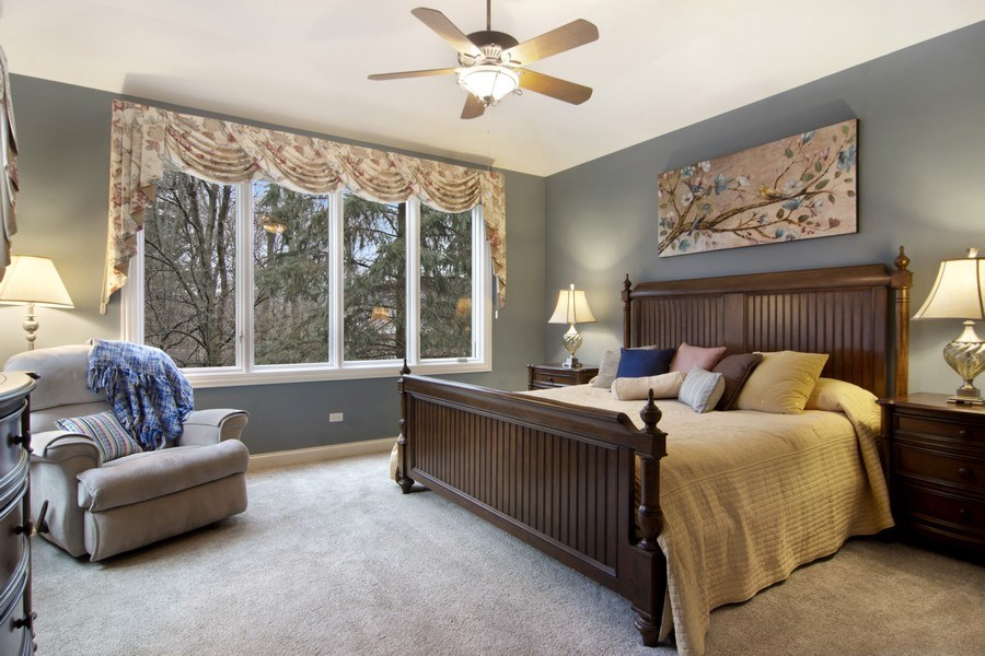 Real Estate Photography - 24 Kingsborough Cove, Inverness, IL, 60010 - Master Bedroom