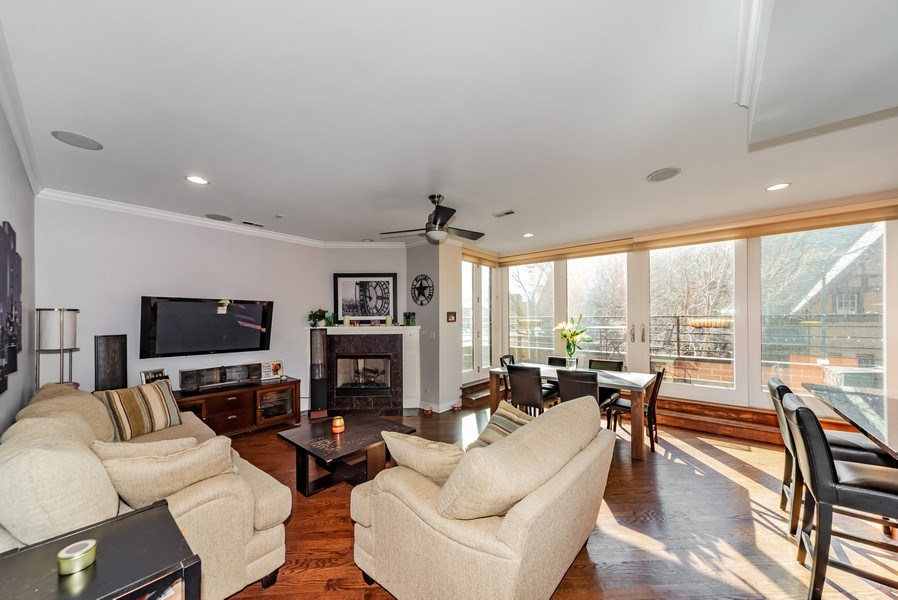 Real Estate Photography - 1353 N. NOBLE Street, Unit 2, Chicago, IL, 60642 - Living Room