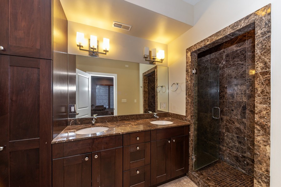 Real Estate Photography - 1353 N. NOBLE Street, Unit 2, Chicago, IL, 60642 - Master Bathroom