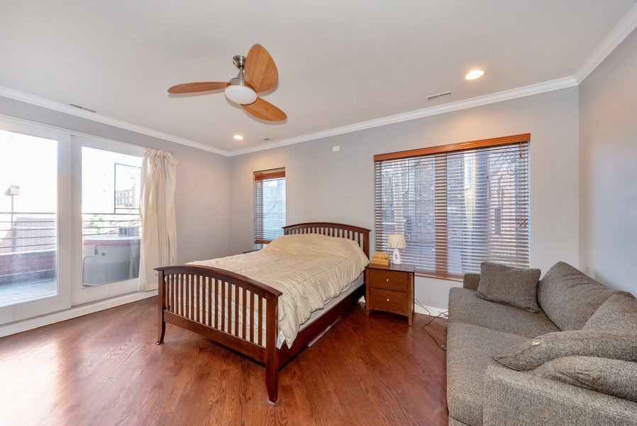 Real Estate Photography - 1353 N. NOBLE Street, Unit 2, Chicago, IL, 60642 - Master Bedroom
