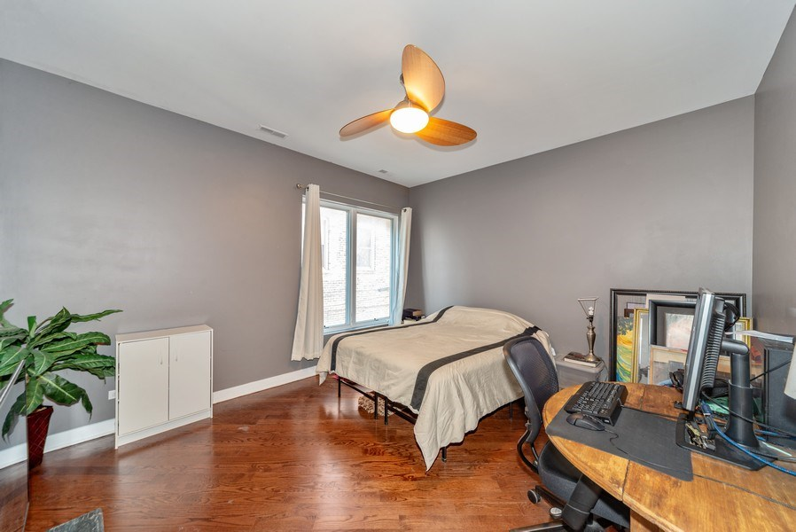 Real Estate Photography - 1353 N. NOBLE Street, Unit 2, Chicago, IL, 60642 - Bedroom