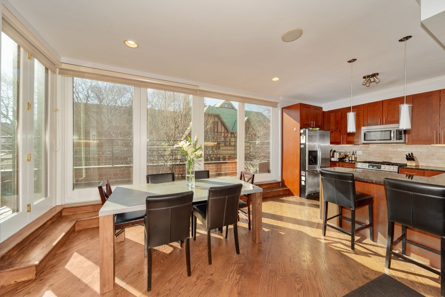 Real Estate Photography - 1353 N. NOBLE Street, Unit 2, Chicago, IL, 60642 - Dining Room