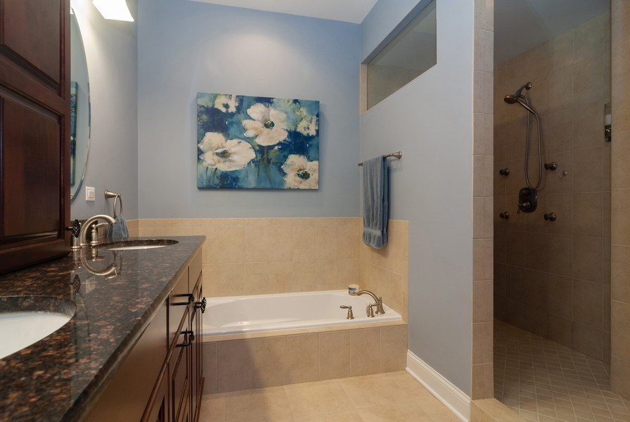 Real Estate Photography - 2707 Nicole Circle, Aurora, IL, 60502 - Master Bathroom