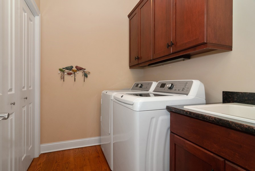Real Estate Photography - 2707 Nicole Circle, Aurora, IL, 60502 - Laundry Room