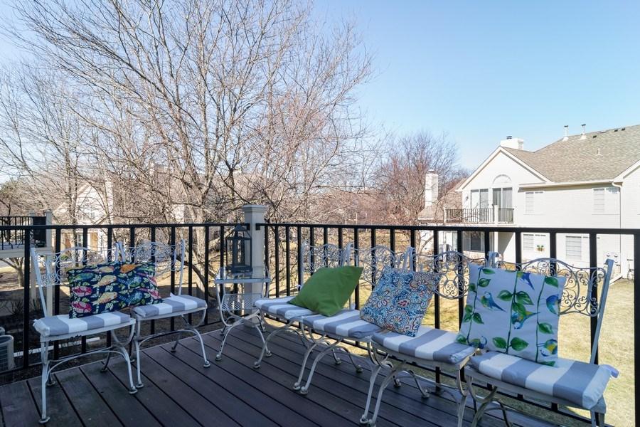 Real Estate Photography - 437 Cromwell Circle, Unit 3, Bartlett, IL, 60103 - Balcony