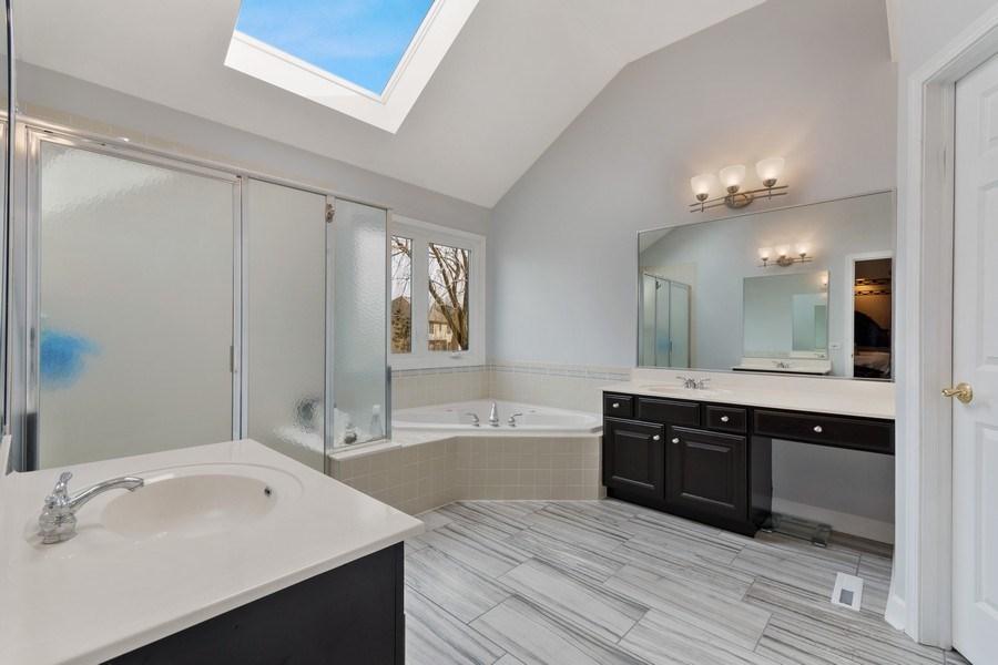 Real Estate Photography - 525 Wind Energy Pass, Batavia, IL, 60510 - Master Bathroom