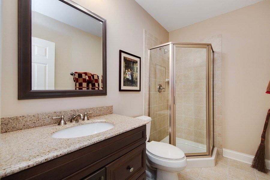 Real Estate Photography - 337 W. Oak Avenue, Wheaton, IL, 60187 - Basement Bath