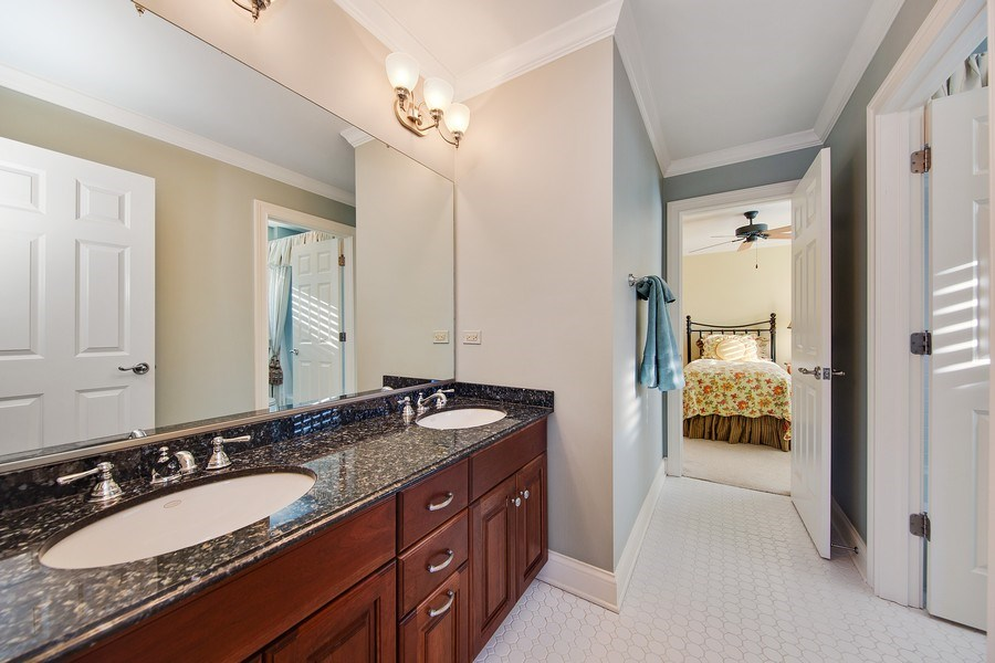 Real Estate Photography - 337 W. Oak Avenue, Wheaton, IL, 60187 - Jack & Jill Bath between Bedrooms 4 and 5