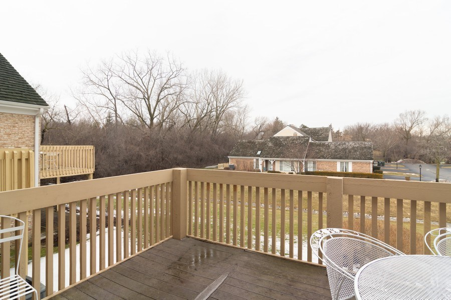 Real Estate Photography - 1384 Shire Circle, Inverness, IL, 60067 - Deck