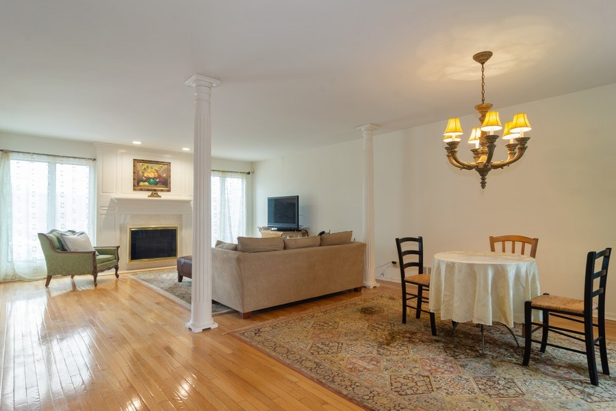Real Estate Photography - 1384 Shire Circle, Inverness, IL, 60067 - Living Room / Dining Room