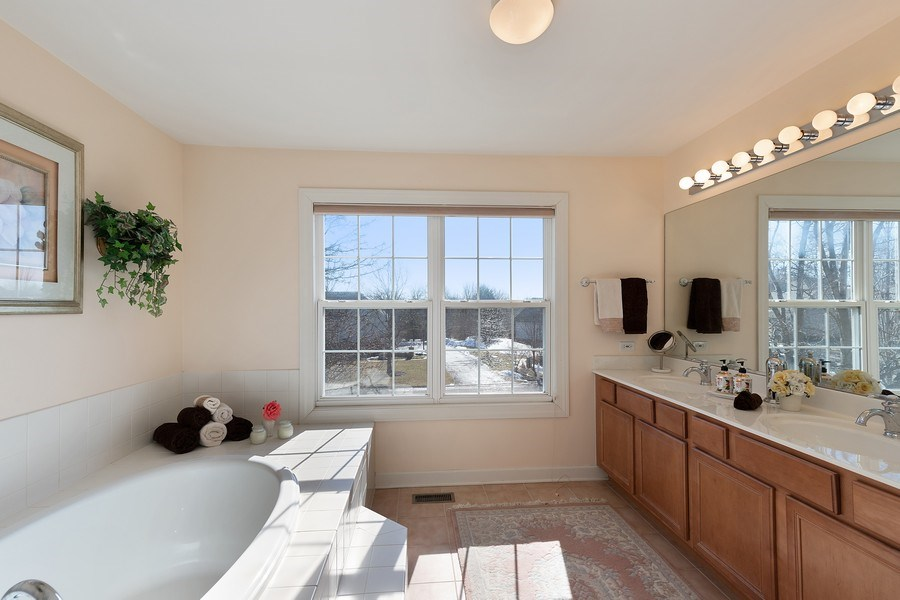 Real Estate Photography - 18 Hawthorn Grove Drive, Hawthorn Woods, IL, 60047 - Master Bathroom