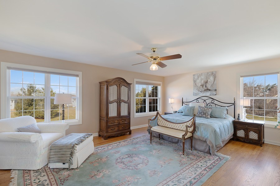 Real Estate Photography - 18 Hawthorn Grove Drive, Hawthorn Woods, IL, 60047 - Master Bedroom