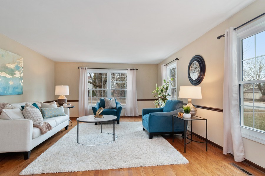 Real Estate Photography - 201 N. Birchwood Drive, Naperville, IL, 60540 - Living Room