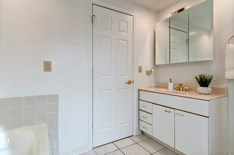 Real Estate Photography - 201 N. Birchwood Drive, Naperville, IL, 60540 - Master Bathroom