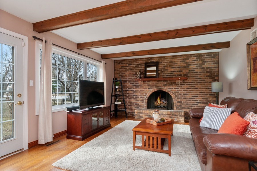 Real Estate Photography - 201 N. Birchwood Drive, Naperville, IL, 60540 - Family Room