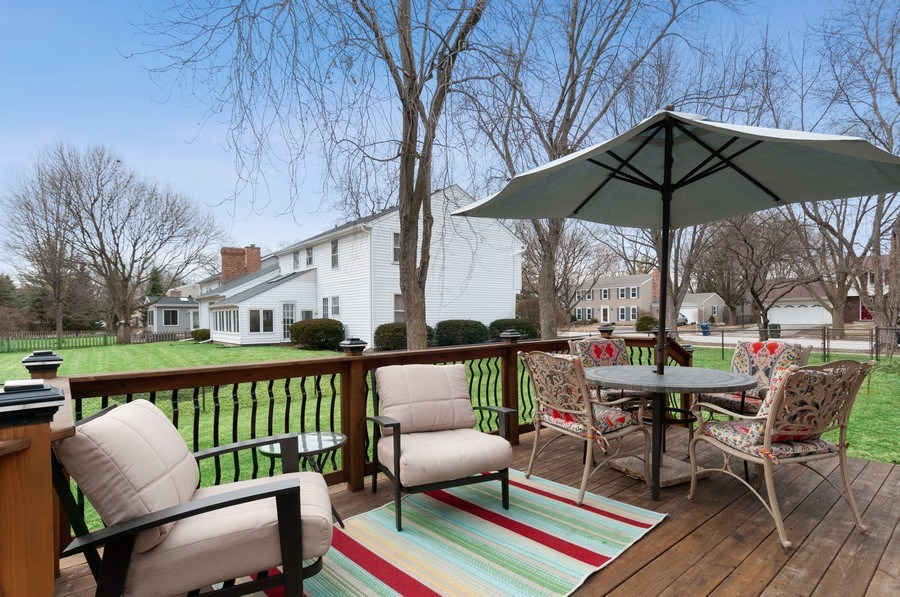 Real Estate Photography - 201 N. Birchwood Drive, Naperville, IL, 60540 - Deck