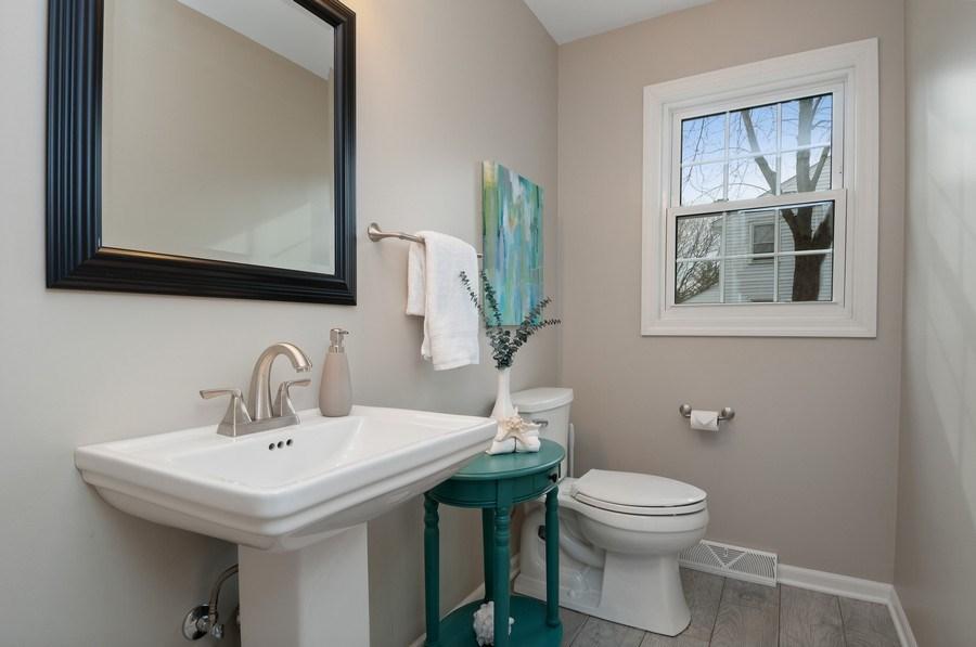 Real Estate Photography - 201 N. Birchwood Drive, Naperville, IL, 60540 - Half Bath