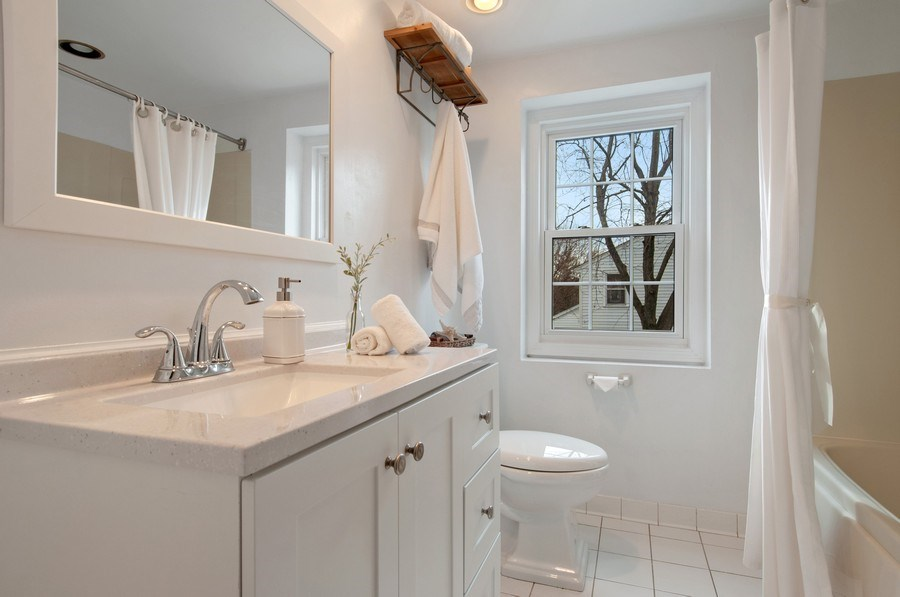 Real Estate Photography - 201 N. Birchwood Drive, Naperville, IL, 60540 - 2nd Bathroom
