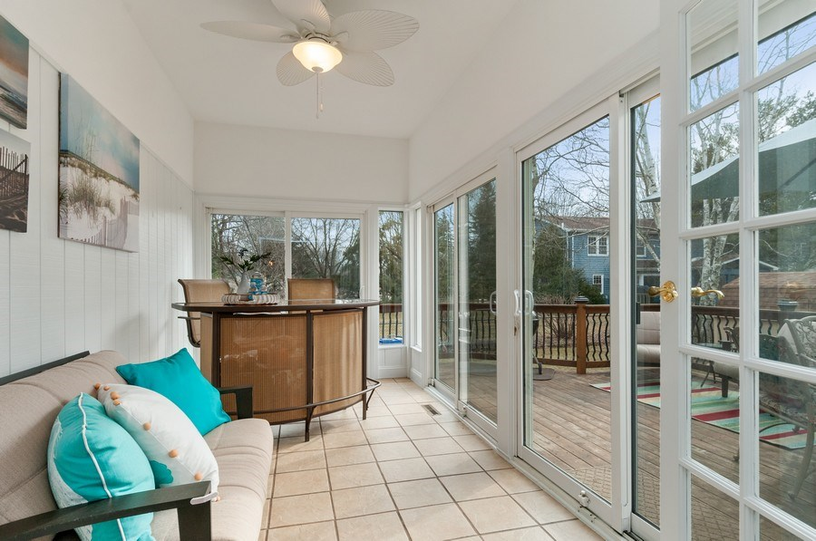 Real Estate Photography - 201 N. Birchwood Drive, Naperville, IL, 60540 - Sun Room
