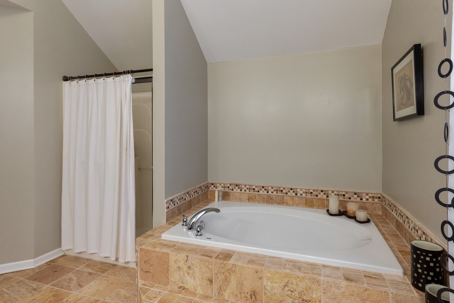 Real Estate Photography - 13602 Rockefeller Circle, Plainfield, IL, 60544 - Master Bathroom