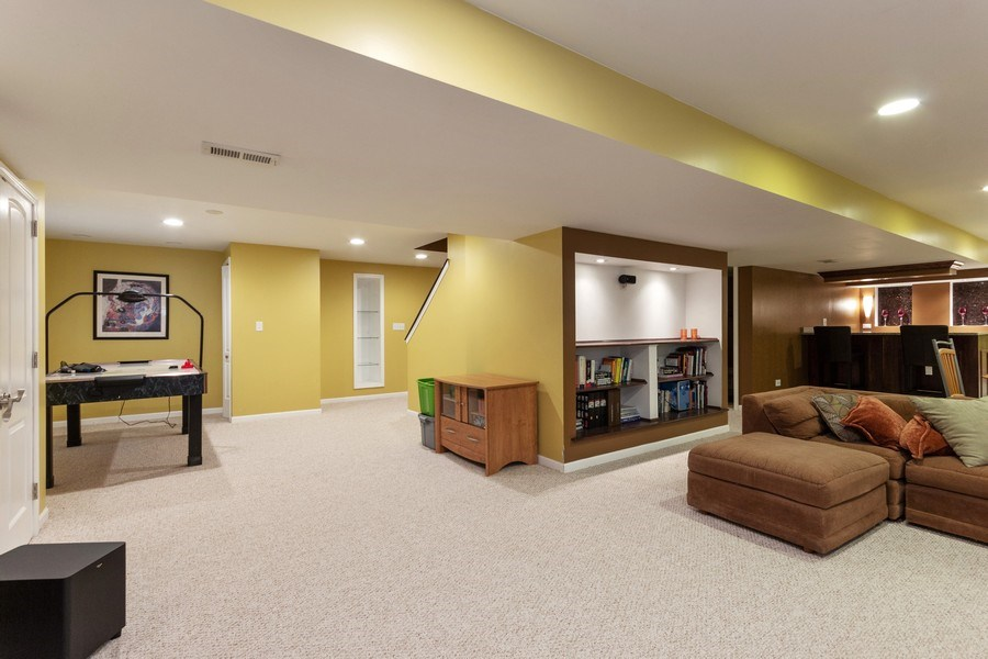 Real Estate Photography - 13602 Rockefeller Circle, Plainfield, IL, 60544 - Basement Game Room Area