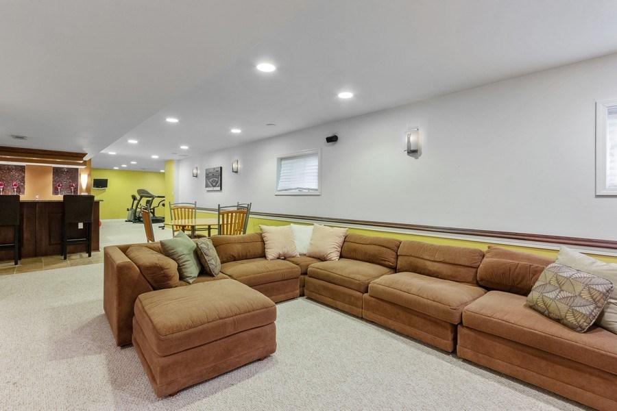 Real Estate Photography - 13602 Rockefeller Circle, Plainfield, IL, 60544 - Basement Rec Room