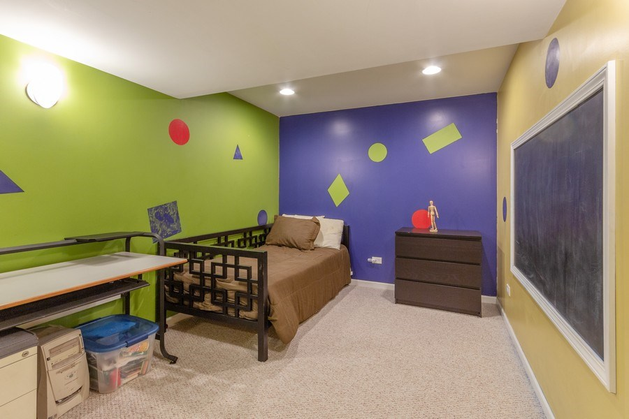 Real Estate Photography - 13602 Rockefeller Circle, Plainfield, IL, 60544 - Basement Play Area or Office