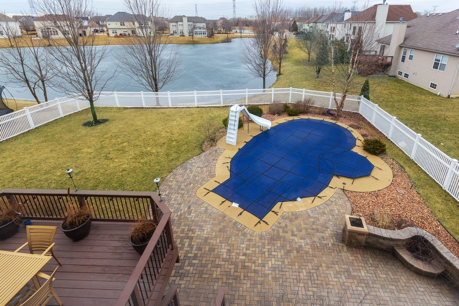 Real Estate Photography - 13602 Rockefeller Circle, Plainfield, IL, 60544 - Back Yard