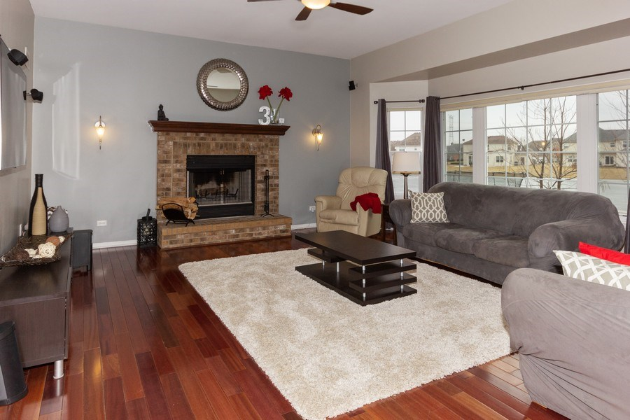 Real Estate Photography - 13602 Rockefeller Circle, Plainfield, IL, 60544 - Family Room