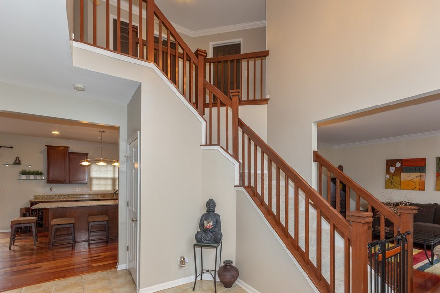 Real Estate Photography - 13602 Rockefeller Circle, Plainfield, IL, 60544 - Staircase