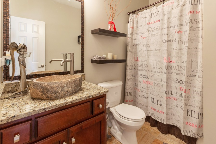 Real Estate Photography - 13602 Rockefeller Circle, Plainfield, IL, 60544 - Full Bath (Main Level)