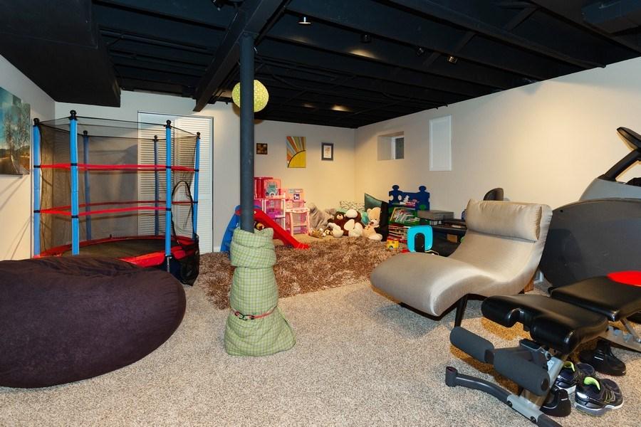 Real Estate Photography - 925 Kennebec Lane, Naperville, IL, 60563 - Rec room